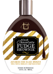 TAN INCORPORATED BLACK CHOCOLATE FUDGE BROWNIE